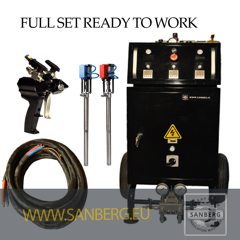 Sanberg Poland Foam Spraying Machines Polyurethane Components